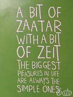 Trying Zaatar w Zeit in Dubai