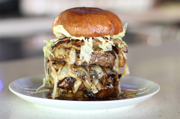 meet shut the duck up burger a double fois gras burger nogarlicnoonions restaurant food. Black Bedroom Furniture Sets. Home Design Ideas