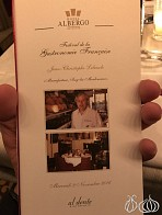 A Dinner Prepared by Jean-Christophe Lebascle at Hotel Albergo