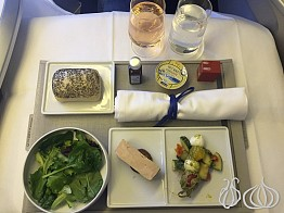 Pampered for Eight Hours Over the Atlantic