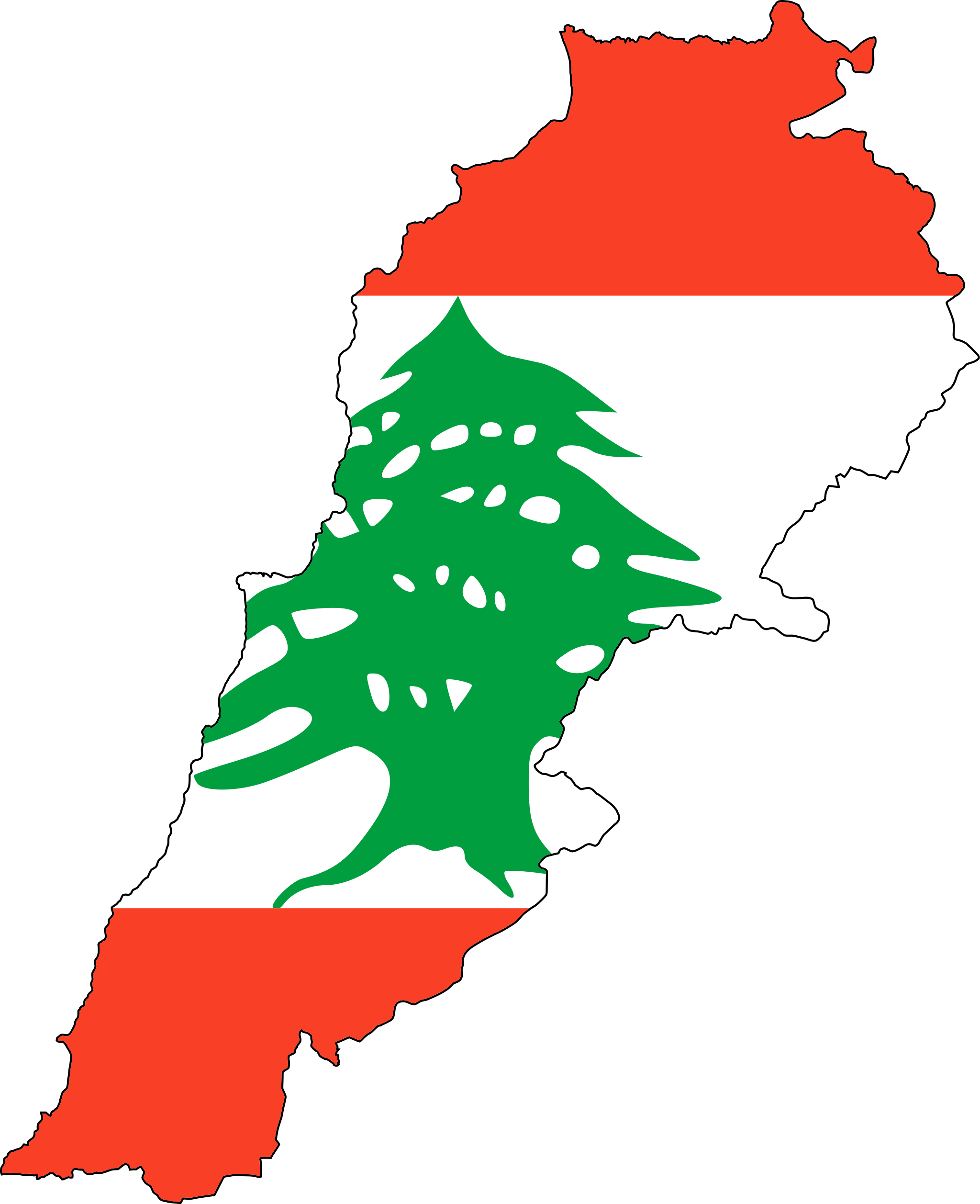 lebanon_flag_map
