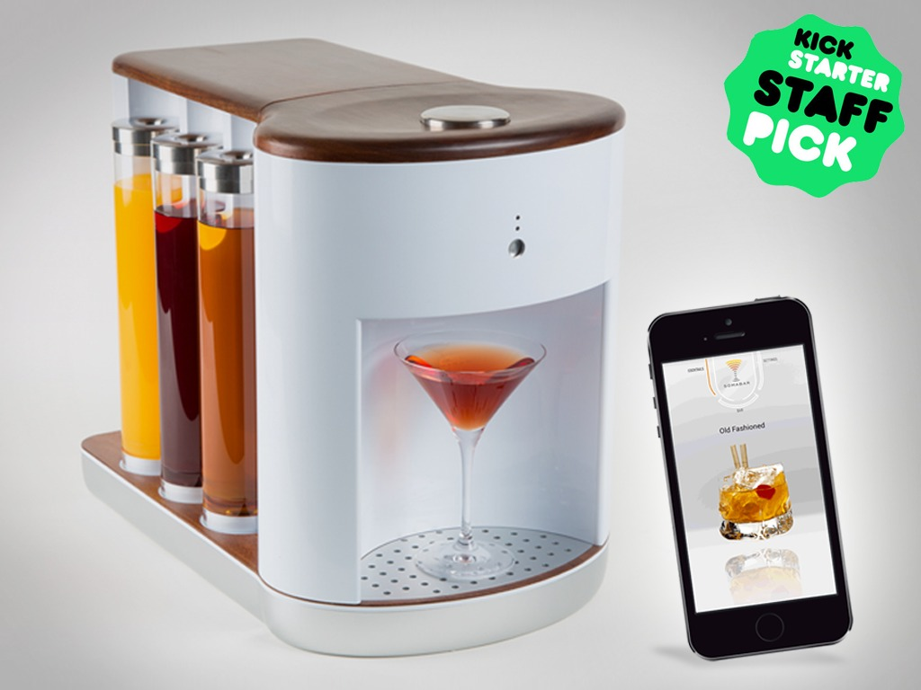 Somabar: Robotic Bartender for your Home :: NoGarlicNoOnions ...
